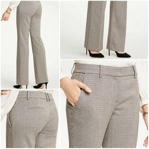 Ann Taylor The Madison Trouser In Check Sz 4